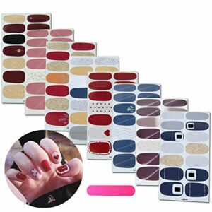 MWOOT 8 Feuilles Nail Art Sticker Ongle Autocollants Tattoo Décorations Manucure pour Ongles