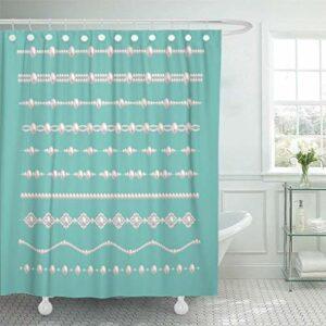 Neoqwez Rideau de douche avec 12 crochets 60 x 72 pouces en tissu polyester imperméable