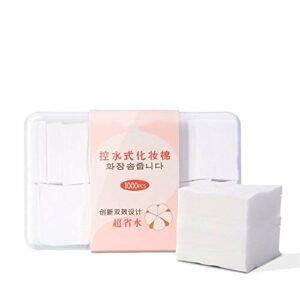 NgMik 1000pcs Maquillage Doux tampons de Coton Tampons nettoyants Bio for Le Visage Ongles Yeux Suppression (Color : White, Size : S)