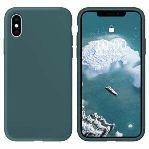 Oihxse Silicone TPU Gommage Case Compatible pour Huawei Honor 9 Coque Ultra Fine Souple Protection Housse Mignon Couleurs Bumper Étui Anti-Rayures Cover(Bleu foncé)