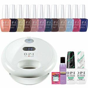 OPI GelColor 'Islande' à ongles gel Starter Kit inc OPI Gl902lampe LED, 12x Gel Couleurs, Prohealth Base & Top Coat et bien plus encore