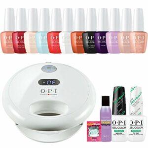 OPI GelColor 'Venise' à ongles gel Starter Kit inc OPI Gl902lampe LED, 12x Gel Couleurs, Prohealth Base & Top Coat et bien plus encore