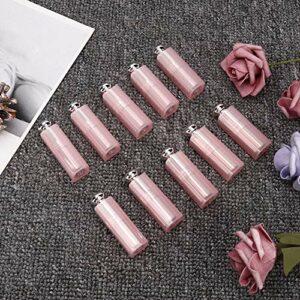 Oumefar Bouteille de baume à lèvres Rechargeable Contenant 10 pièces de baume à lèvres pour Les Articles de Toilette pour Les Voyages pour Les cosmétiques