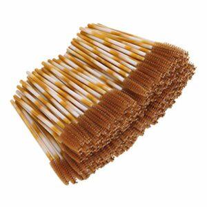 Outil de maquillage, brosse de mascara ferme élastique, pour le maquillage des filles sépare les cils des femmes(brown)