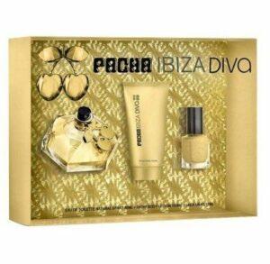 Pacha Ibiza Diva edt 80ml + Lotion pour le corps brillant 100ml + vernis à ongles 12