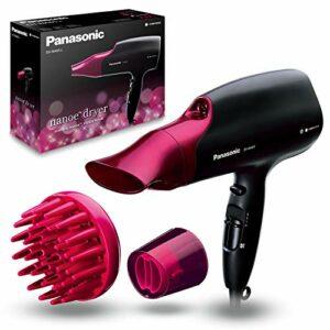 Panasonic Eh-Na65-K825 Sèche-Cheveux Avec Diffuseur   Nanoe (Technologie Ionique Avancée)   Protection Des Cheveux   Style Professionnel   2000 W, Noir et Rose
