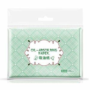 Papier Buvard à lhuile de thé Vert, 500 Feuilles de Papier Buvard pour le Visage Top Tissus Absorbants Dhuile Portatifs Pratiques pour les Soins de la Peau ou le Maquillage
