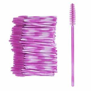 Pinceau à mascara, outil de maquillage, ferme élastique pour filles femmes(Fuchsia)