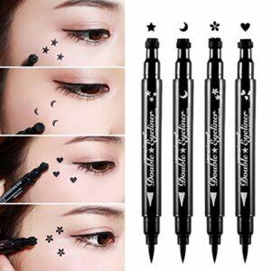 Pinkiou Crayon à paupières eyeliner maquillage double face imperméable à l'eau longue durée (4 en 1)