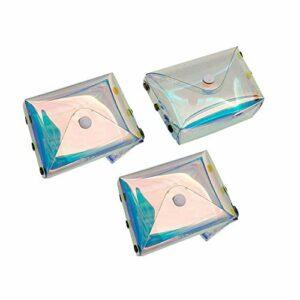 Raybre Art® 3 Pcs Laser Transparent Cils Pack Cils Vides Emballage Boîte Titulaire Conteneur Cosmétiques