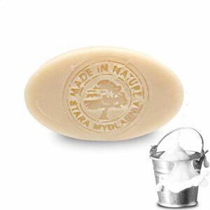 Savon lait de chevre 80g – Savon naturel au lait de chevre, à l'huile d'olive et huile de coco – Soin visage/soin corps fait à la main. Savon corps à base d'ingrédients actifs naturels (x1)