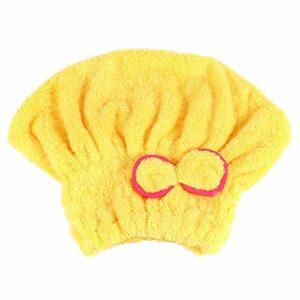 Serpillière pour cheveux Turban Serviette de Douche Bonnet de Cheveux Séchage rapide Coton Jaune Violet Pastèque Rouge