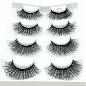 Si Belle Cils, 4 Paires 3D Mink Faux Cils Extensions, Cils Long Baiser Naturel for Le Maquillage beauté Vous Apporter la beauté (Color : L02)