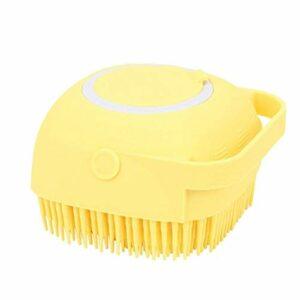 Silicone douche brosse de massage Shampooing washsing Distributeur rempli de liquide Exfoliant Scrubber jaune pour enfants Hommes Femmes de beauté et cosmétiques