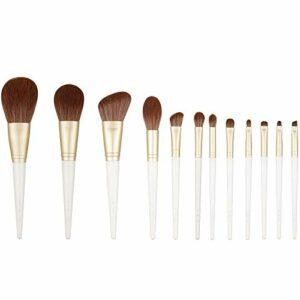 □ Soft □ Pinceau de maquillage blanc maquillage doux fibre de la série Lune Pinceaux de haute qualité for le visage et le maquillage des yeux Pen-fibre des cheveux haute qualité