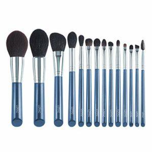 □ Soft □ Pinceau de maquillage-The Sky Blue Super Soft fibre de maquillage Pinceaux de haute qualité visage yeux cosmétiques Stylos-cheveux synthétiques haute qualité