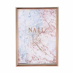 Support d'affichage d'ongles, haute durabilité pas facile à casser panneau d'affichage d'art d'ongle, conception spéciale pour la maison de beauté de salon de manucure(Rose gold frame)