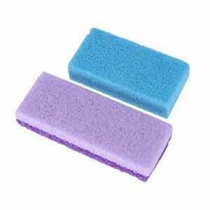 SUPVOX 2pcs pierre ponce dissolvante pour calus pour pieds corps mains (couleur aléatoire)