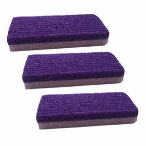 SUPVOX 3pcs outils de pédicure pierre ponce dissolvant peau dure callosités pour pieds