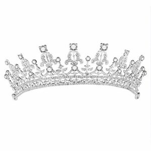 SUPVOX Couronne de mariée élégante en Strass décorée/Barrettes à Cheveux/Serre-tête/Accessoire pour Cheveux/Boucle de Cheveux (Argent)