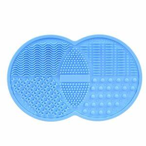 Tapis de nettoyage de brosse de maquillage, Tampon de nettoyage de brosse cosmétique BESTIM INCUK, Outil de lavage en silicone, Ventouse à gommage