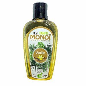 Tevi Monoi de Tahiti Vanille pur 99%, Sublime Vanille, autobronzant naturel, accélérateur de bronzage pour le corps et cheveux sensuel et irrésistible, 125 ml, vegan, cruelty free