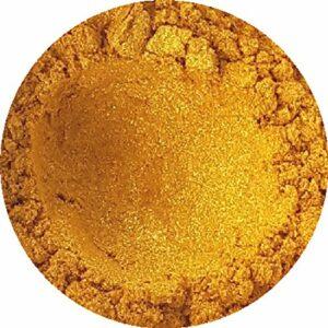The Soapery – Poudre de mica doré pour confection de savons, ombres à paupières, bombes de bain, etc. 50 g