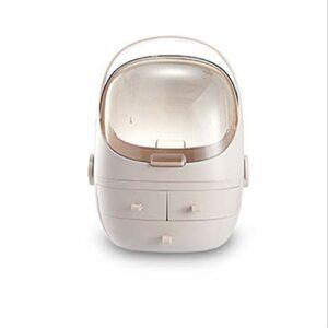 Trousses de Toilette Maquillage Portable cosmétiques Boîte de Rangement Affichage étagère Support de Rangement Boîte avec poignée de tiroir Commode Chambre Salle de Bains Grande capacité