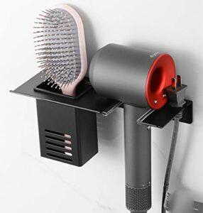 U-A Support de sèche-Cheveux lisseur Support de Stockage Mural en métal avec Support de Suspension résistant à la Chaleur