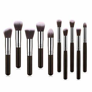 WCY 10 Pinceau Maquillage Mini Cinq Petits Petits Petite Poudre d'or Noire en Or Noir d'or. yqaae