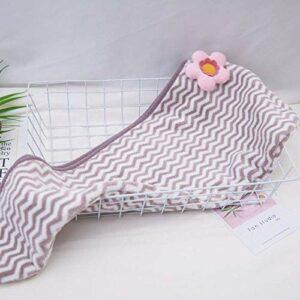 WLD Bonnet pour cheveux secs, avec boutons, rayé fleur, polaire corail, chapeau pour cheveux secs marron, serviette légère et douce, chapeau féminin, utilisé pour les outils de bain, serviette de ba