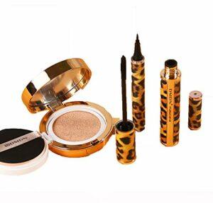 WSJMJ 3PCS Coffret Maquillage, Mascara Cils Sensational, Eyeliner Pinceau, Concealer, Full Size Soin de la Peau et Maquillage pour Noël