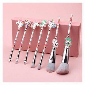 wysjlxcy Pinceau de Maquillage Maquillage Brosses Synthétiques Cheveux Blush Brosse Poudre Poudre Cosmétique Face Outils de beauté 7pcs (Handle Color : 7pcs)