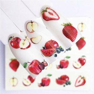 Xcwsmdq Ongles Décoration 1 Pcs Fruits de Noël Ongles Petit Bricolage Perles irrégulières Nail Art manucure 3D Nail Art Décoration en Roue Accessoires décoration (Color : 7)
