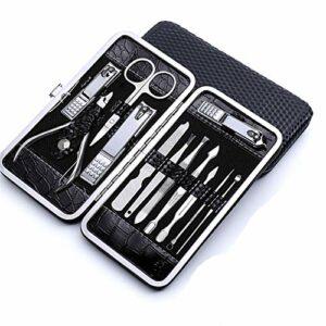 XMBT Ciseaux à ongles Kit de manucure avec coupe-cils, coupe-ongles pour travail lourd pour ongles épais ou encarnés, grade chirurgical, coupe-ongles rotatif manche long