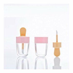 XTKID Bouteille Brillant à lèvres Lip Glaze Tube Tube Vide Lipgloss Emballage Matériel Maquillage Bricolage Lip Glaze Multi-usages jaugée Fiole (Couleur : Rose, Specifications : 30pcs)
