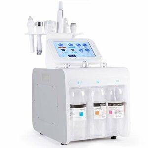 YJF-MRY 8 en 1 Machines d'injection d'oxygène, Petite Bulle beauté Machine à Vide Hydro Massage Jet pulvériser Le Bio microcourants dermabrasion Dispositif de Nettoyage de Peau