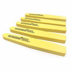 100 Pcs/Lot lime à ongles éponge diamant lime de polissage lavable 100/180 beauté couleur manucure sable mousse Yellow