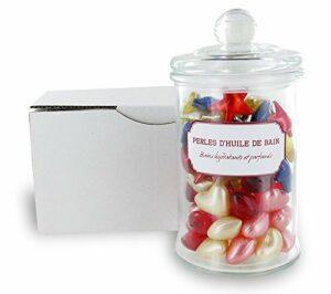 100 perles d'huile de bain dans un bocal en verre – LOVE