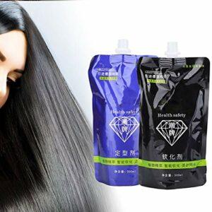 2pcs x 500ml crème de soin des cheveux, crème de défrisage pour cheveux professionnelle crème pour adoucisseur de cheveux pour salon de beauté(#2)