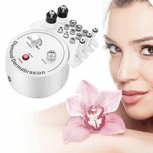 3 en 1 machine de dermabrasion de microdermabrasion de diamant, équipement facial de levage de gommage exfoliant de nettoyage de nettoyage de salon de peeling pour l'usage à la maison personnel(220V)