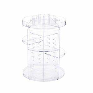 360 degrés de rotation Makeup Tour Organisateur cas réglable d'affichage de stockage cosmétique pour salle de bains Countertop Clear 1pc