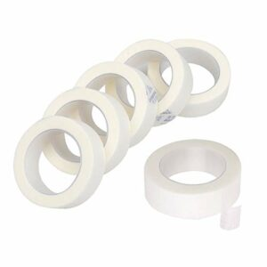 6 Rouleaux Ruban à Cils Micropore, Ruban de Cils Micropore Médical Bande Papier Tissu pour l'extension des Cils