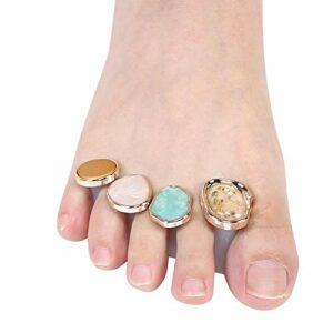 8 pièces outil de séparation des orteils séparateur d'orteils réutilisable pour la beauté à usage domestique pour l'art des ongles pour la pédicure(MY-02)