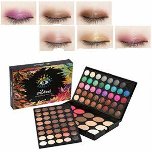 80 couleurs professionnel fard à paupières palette +15 couleurs fard à joues et correcteur contour des yeux poudre maquillage ensemble cosmétique