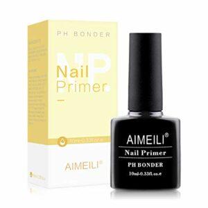AIMEILI Nail Primer Semi Permanent Nail Prep Déshydratant Air Dry Gel Équilibrant Vernis à Ongles Primer 10ml