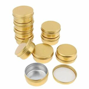 Aluminium Tin Jars 30ml 10pcs Vide Baume à lèvres crème Lotion échantillon Boîte Nail Art Container Pot Accessoires Beauté