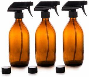 Ambre verre Vaporisateurs huile essentielle aromathérapie distributeur cosmétique Support pour Accueil Voyage Outdoor Fournitures de maquillage 3Pcs Art Beauté