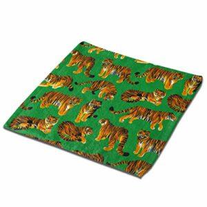 Animal Nature Beast Forest Tiger Gants de Toilette pour Le Bain 13×13 Pouces Serviettes de Cuisine en Fibre Superfine Serviette de Plage en Microfibre Super Douce et absorbante surdimensionnée Parfai