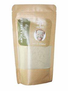 Argile Verte PURE en Poudre 100% naturelle – Purifiante Tonifiante pour Cheveux et Visage – du Maroc 200G (200 G) (Verte)